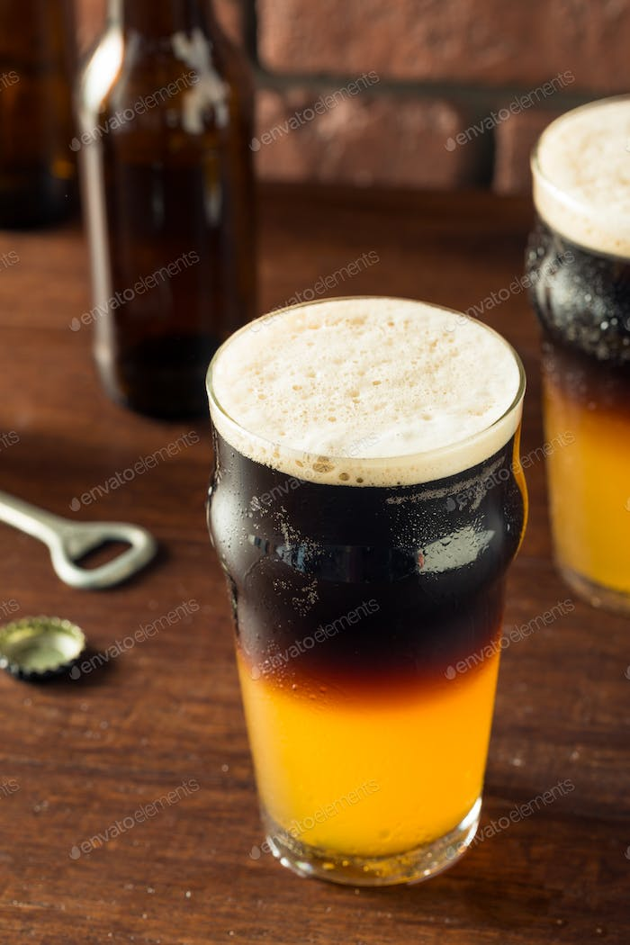Irish Layered Black and Tan Beer