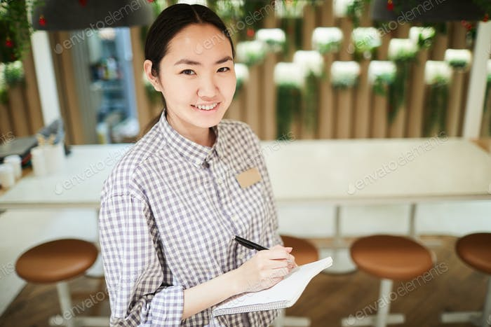 Female Asian Waitress
