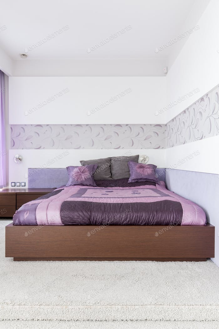 Purple bedroom design