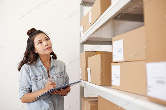Zählen von Paketen