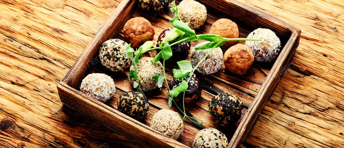Vegan chocolate truffles