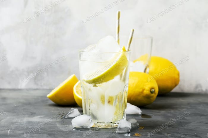Summer cocktail with soda