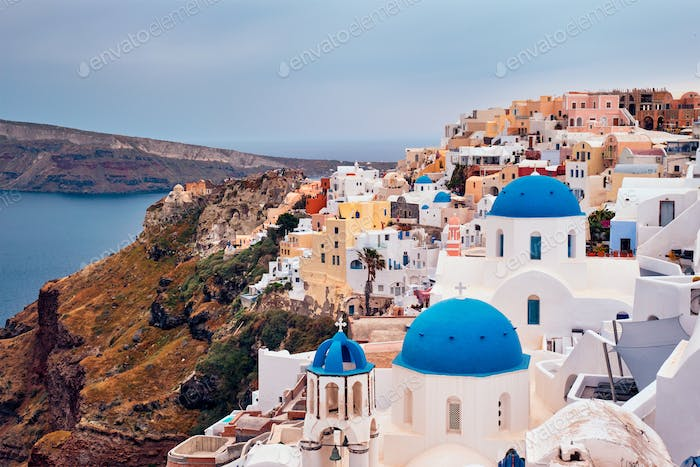 Famous greek tourist destination Oia, Greece