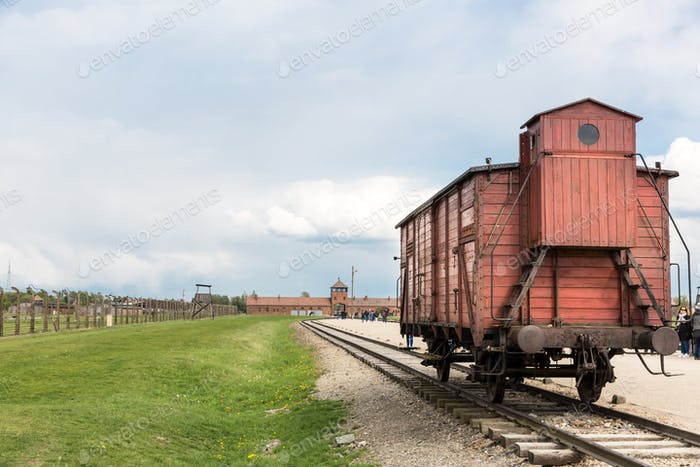 Railway wagon for prisoners, Auschwitz II, Poland