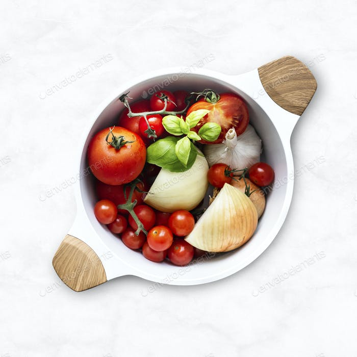 Organic vegetables in a bowl