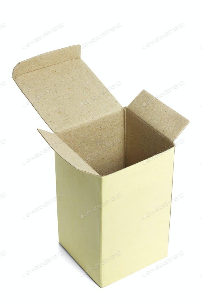 Open empty paper box