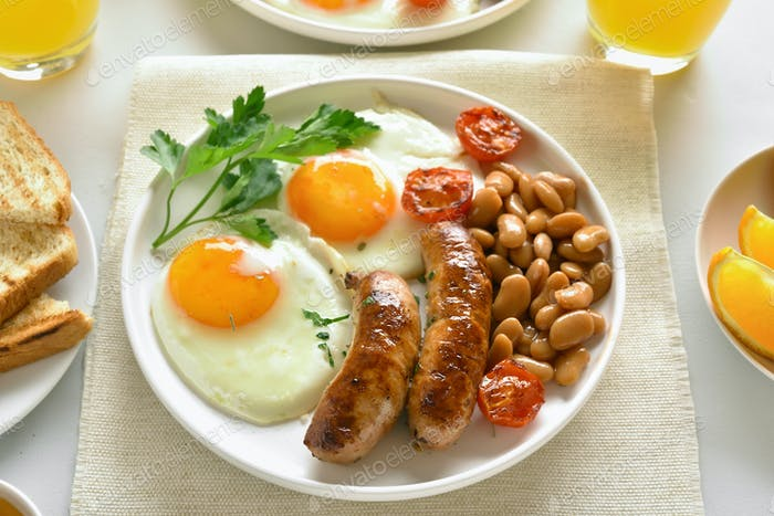 Breakfast on plate