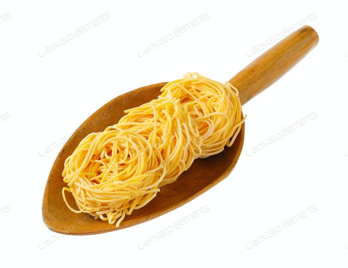 bundles of spaghetti pasta