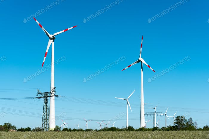 Windwheels and power transmission lines