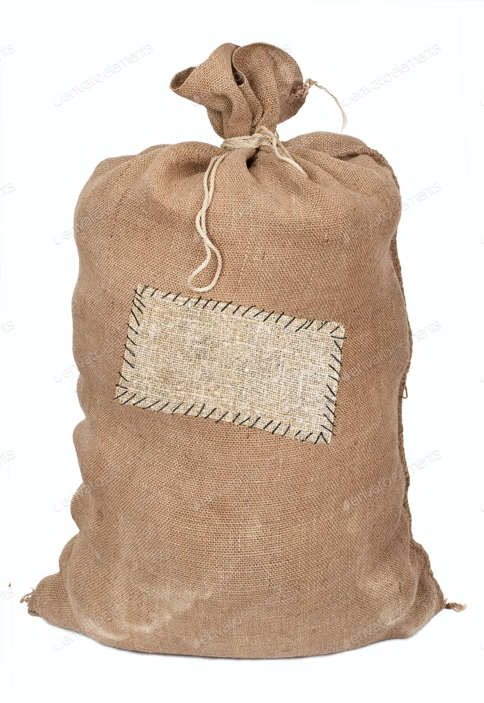 Big sack with label