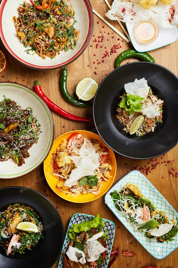 Oriental Cuisine Composition