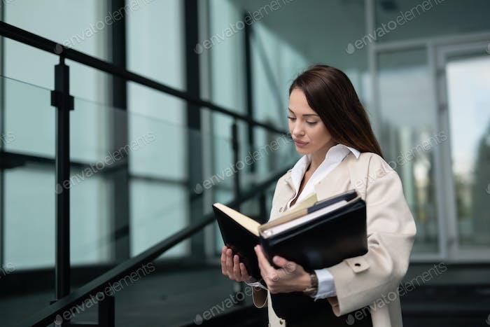 Beautiful businesswoman in modern office