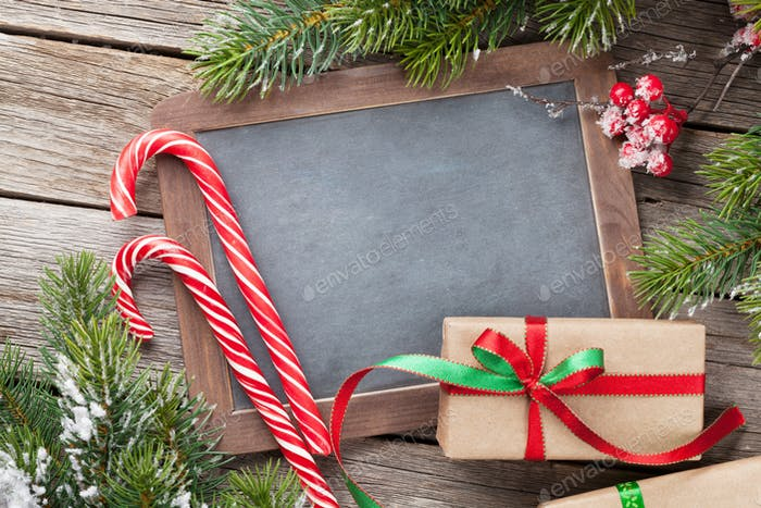 Christmas chalkboard for your greetings
