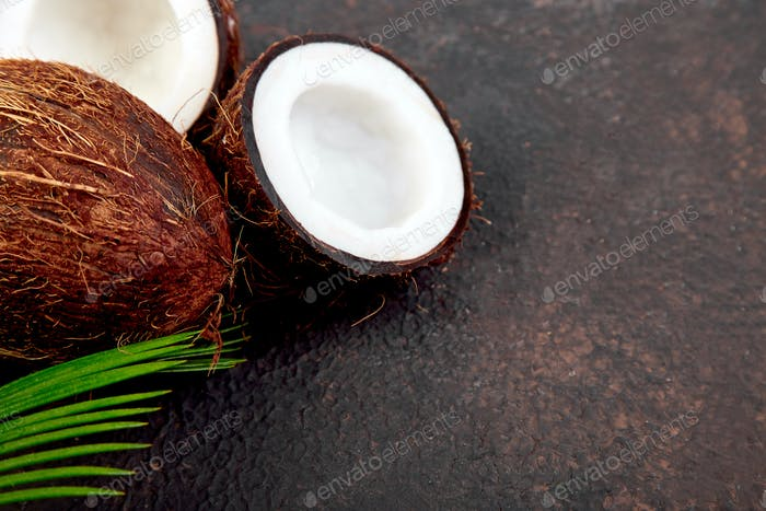 Fresh Coconut  Food concept.
