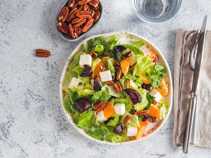 Beetroot, Feta Cheese and Orange Salad