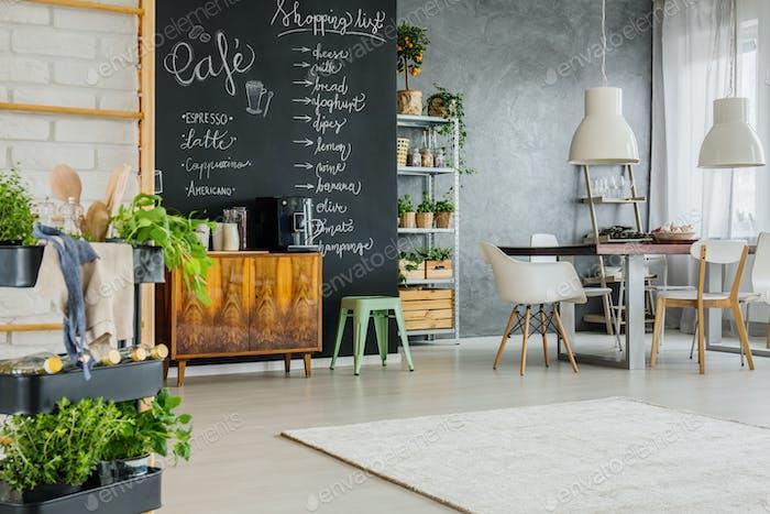 Cozy loft kitchen