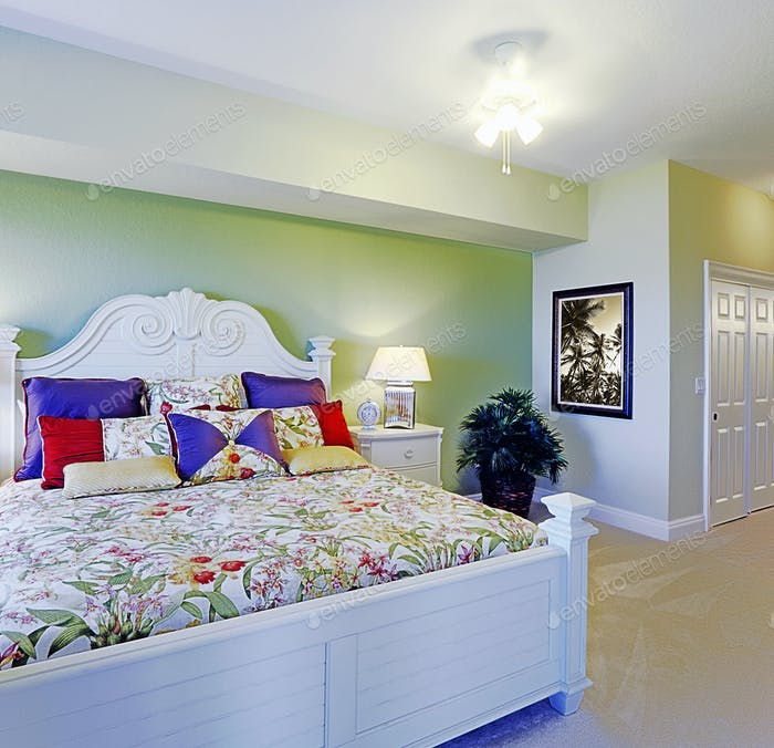 Colorful King Size Bed