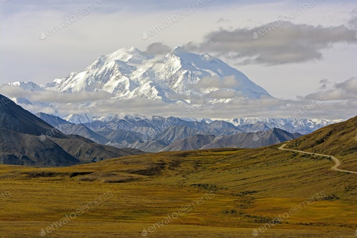 Denali above the Tundra in Fall Colors