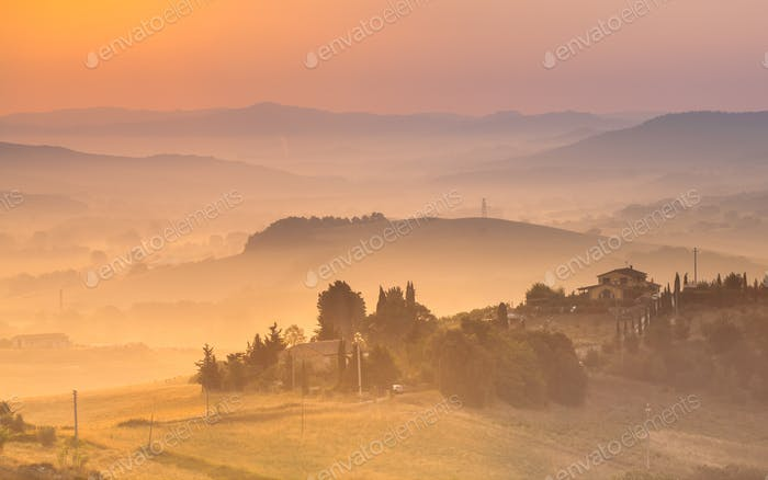 Tuscan Country Scenery color crop