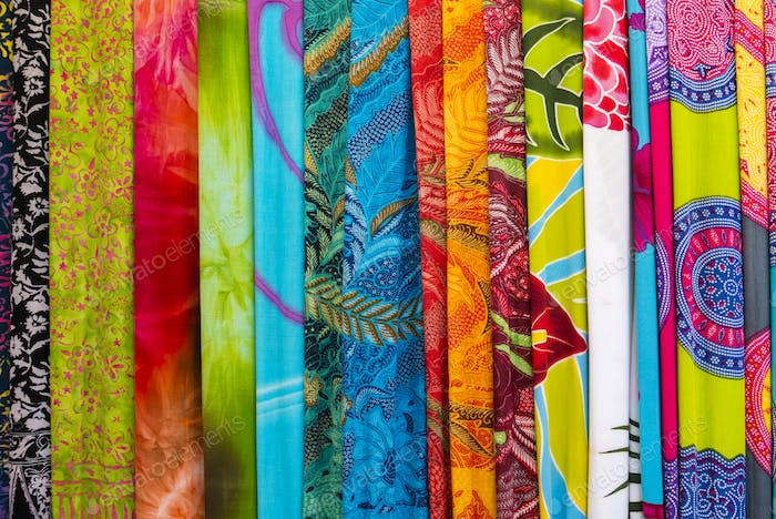 Thumbnail for Amazing colorful Balinese sarongs for sale in Ubud, Bali, Indone
