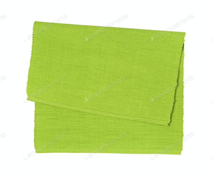 Green woven cotton place mat