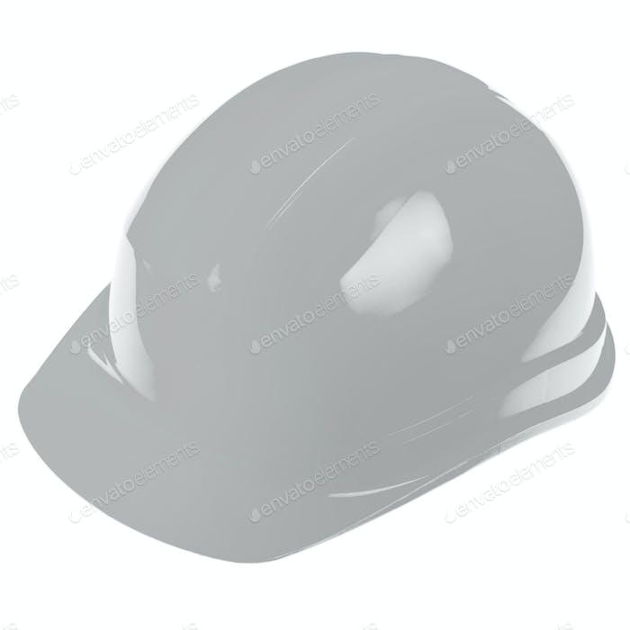 White supervisor ingeneer plastic hard hat isolated on white background. Safe labor concept