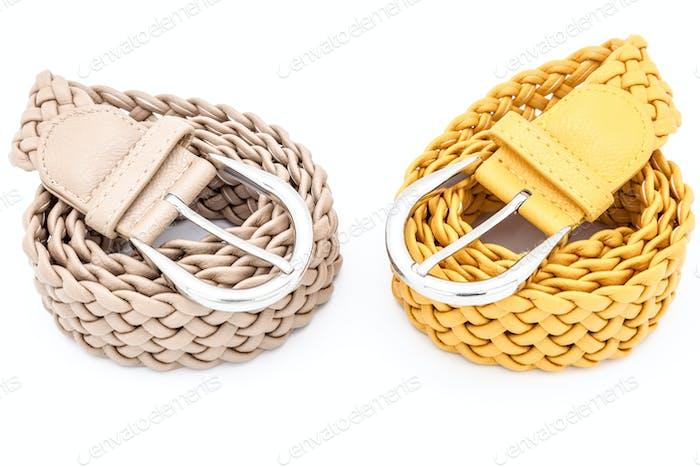 Two women belts