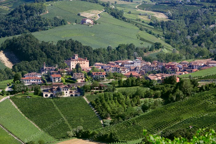 Barolo medieval village in Italy, Unesco heritage