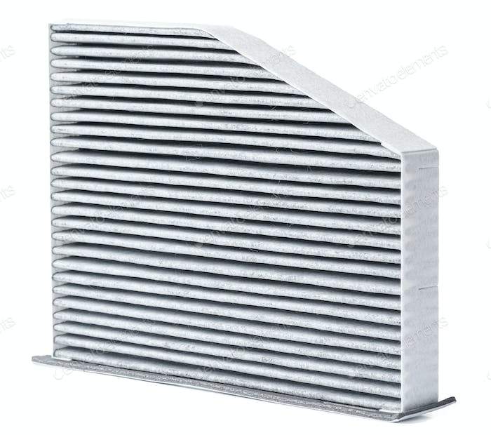 Carbon car air filter isolate on white background
