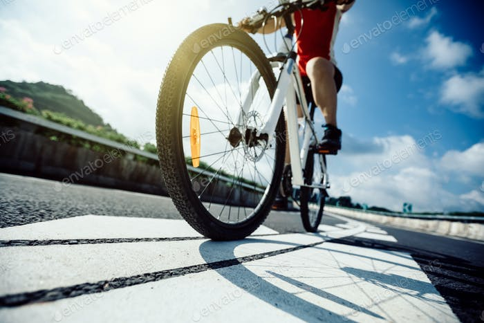 Cycling on highway