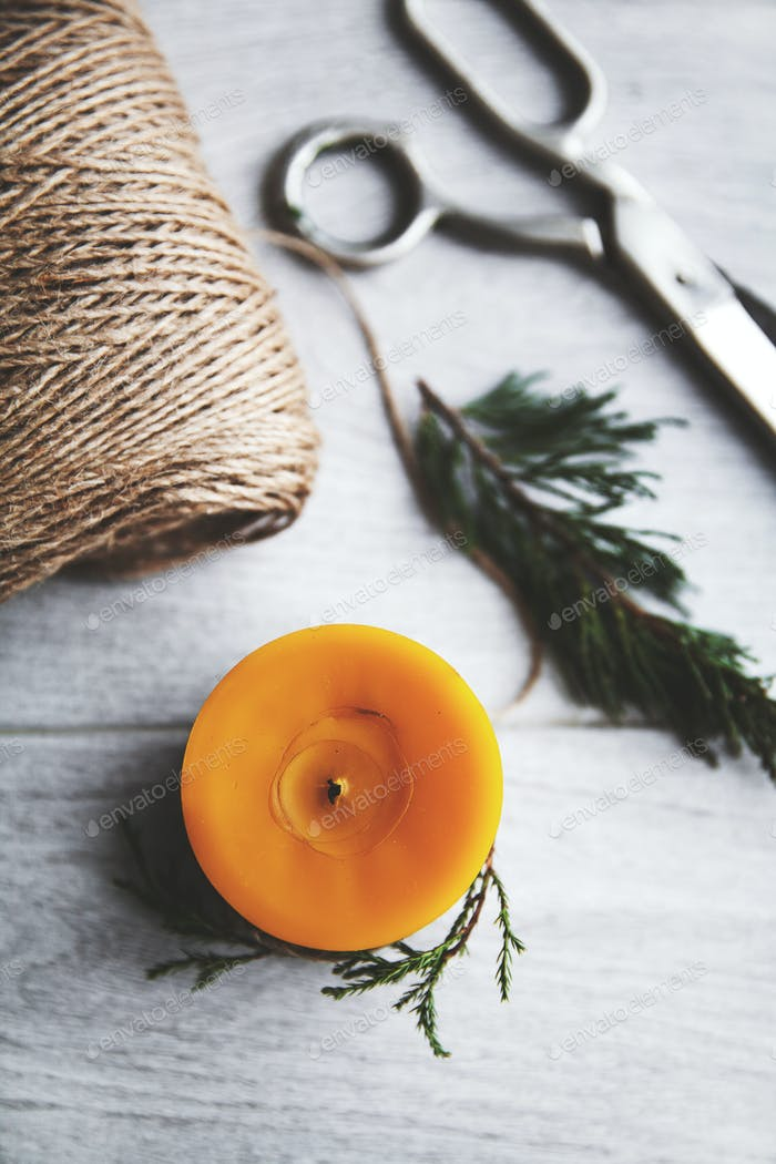 Рождественская свеча, украшения, Новый год, украшения, природные