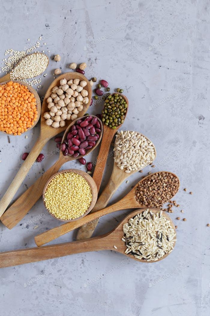 Verschiedene Getreide