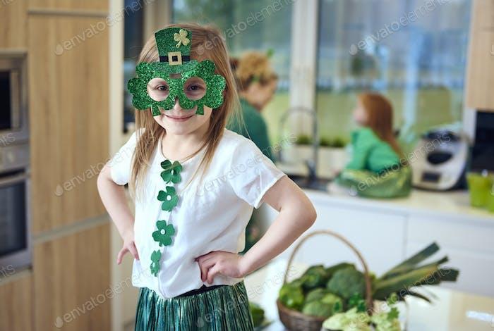 Porträt von irischen Kobold bei Küche