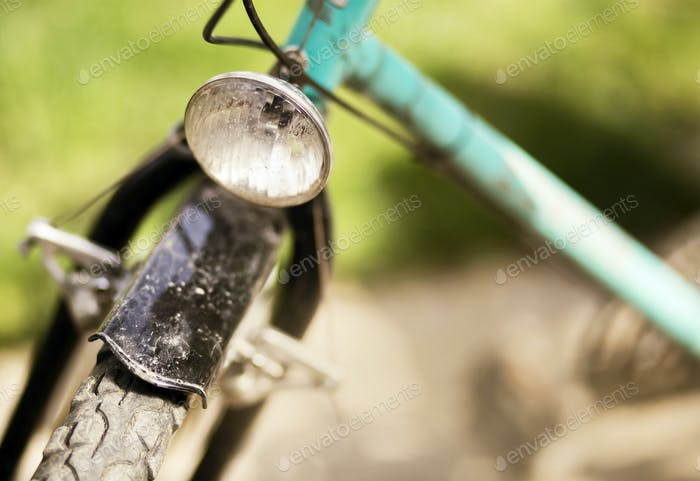 Retro bicycle close-up