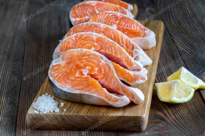 Steaks of Arctic char