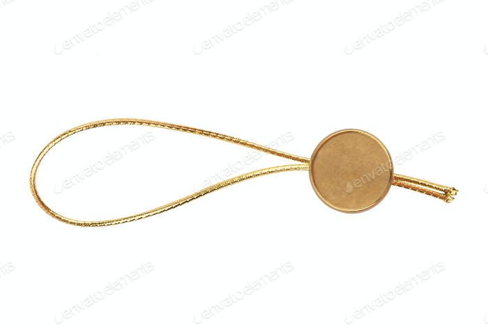 golden metallic seal swing tag