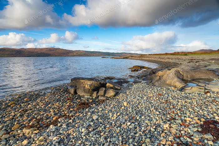 The beach at Dhiseig on the Isle of Mull