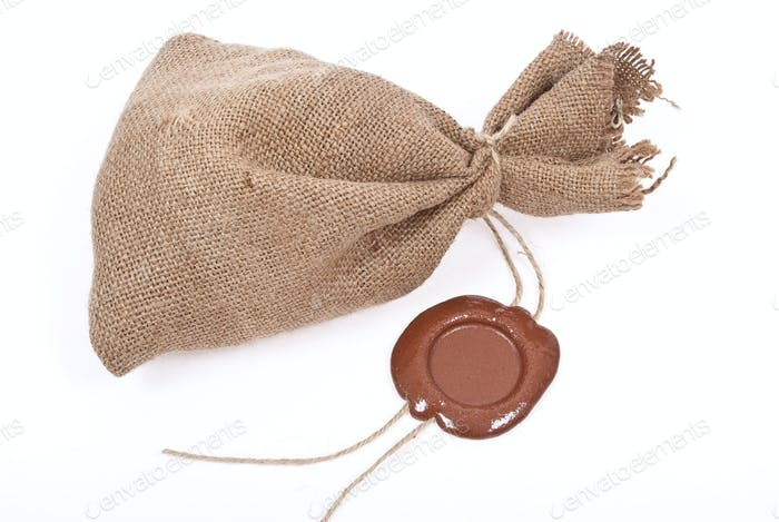Sack with sealing wax