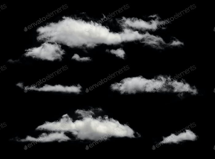 White isolated clouds.