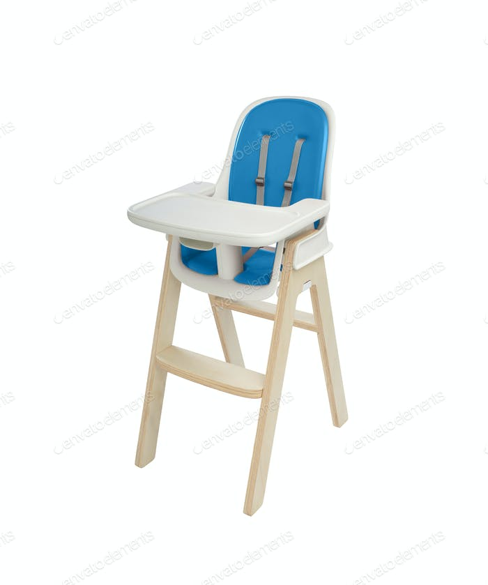 high chair under the white background