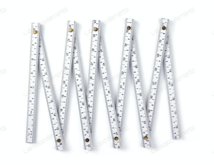 Meter Lineal isoliert auf weiß
