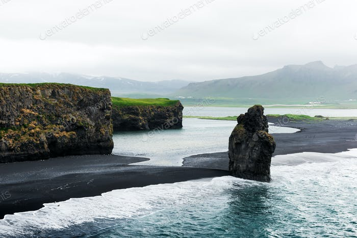 Incredible view of the Black beach