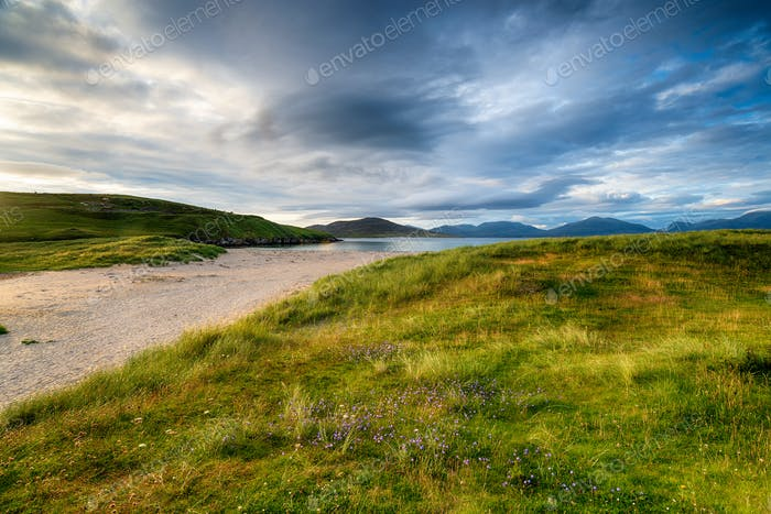 Summer at Traigh Horgabost beach on the Isle of Harris