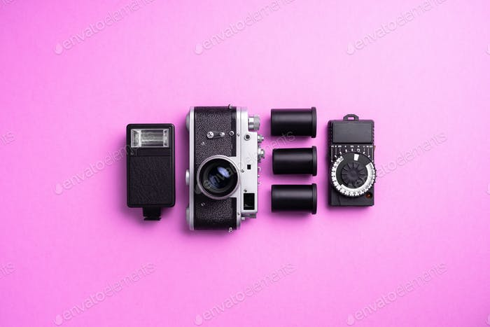 Analog camera and accessories