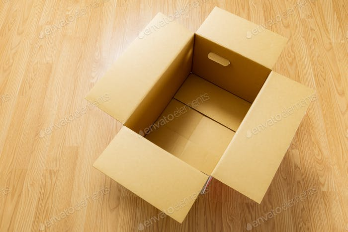 Box on floor