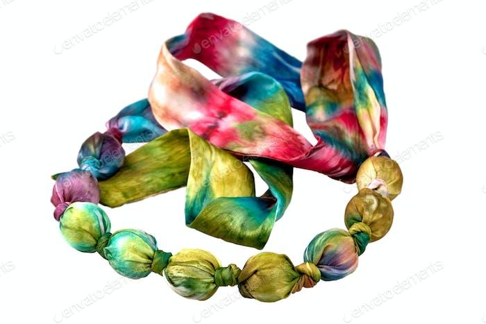 batik silk beads
