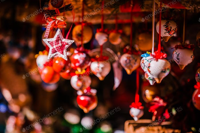 Christmas decorations on Trentino Alto Adige, Italy Christmas market