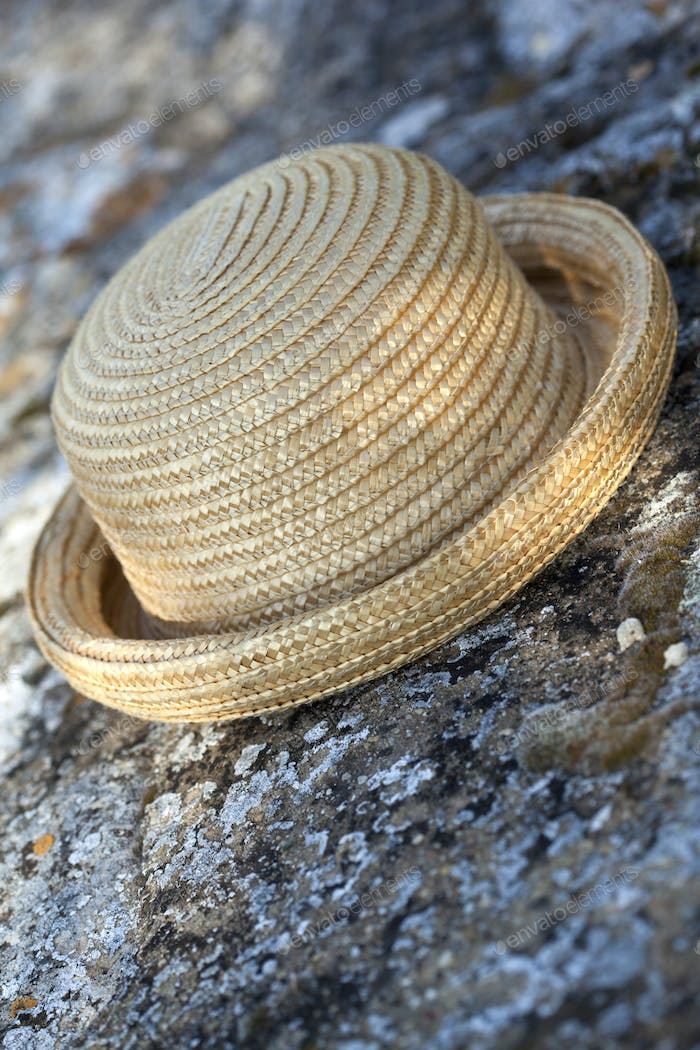 Detail of a straw hat