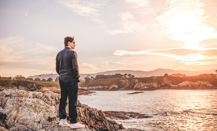 Man Contemplating the sea