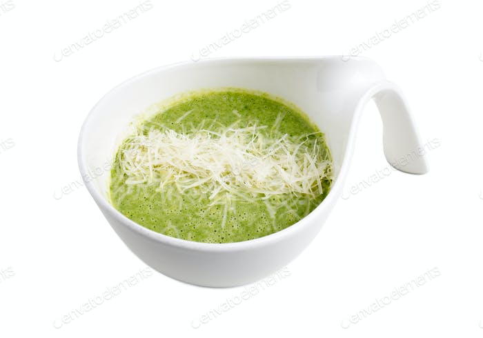 Delicious spinach cream soup.